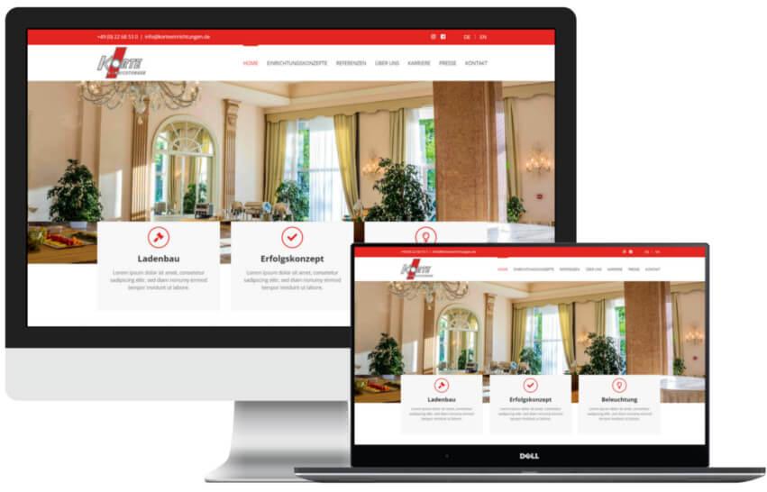 Website für Handwerker - Beispiel 2
