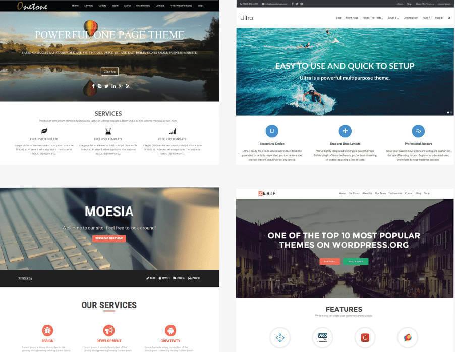 Webdesign Trends - Beispiel einiger Standardlayouts