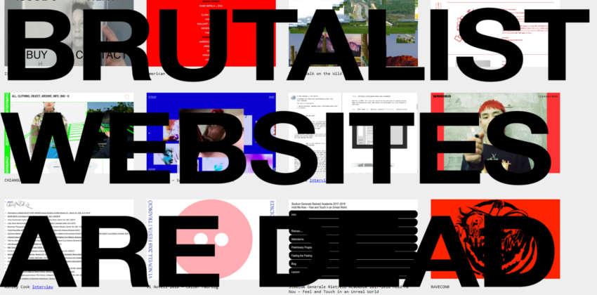Webdesign-Trends: Eine Sammlung von Websites im Brutalism Design