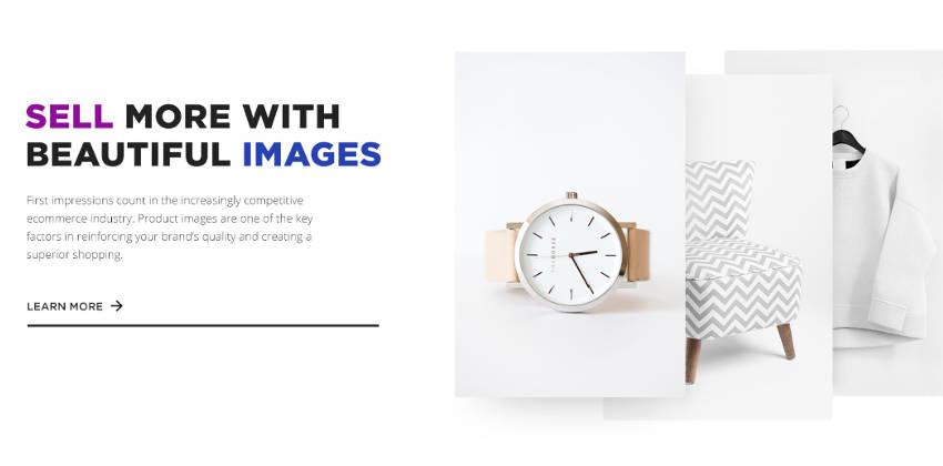 Webdesign-Trends: Beispiel überlappender Elemente