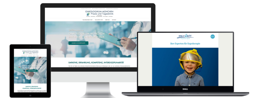 So könnte auch Ihr Webdesign für Ärzte aussehen.